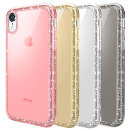 glitter bling frame UK - Women Phone Case for Iphone Xr Luxury Frame Glitter Sparkle Bling Soft TPU Back Cover for Iphone XS Max