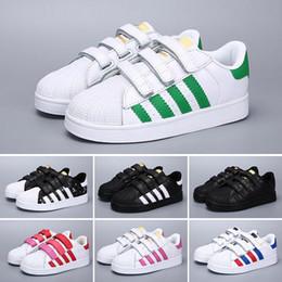 the best attitude ef841 3a0bd Adidas Superstar Superstar calzan los zapatos de las zapatillas de deporte  de las superestrellas originales de los niños del bebé del oro blanco  Original ...