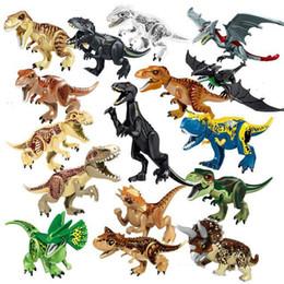 Jurassic block online shopping - Jurassic World Dinosaur Indominus Indoraptor Tyrannosaurus Animal Model Building Blocks Figures Toys For Children Gifts