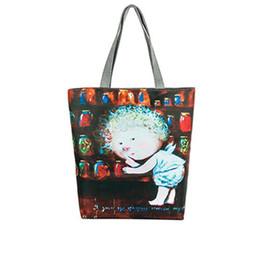 $enCountryForm.capitalKeyWord Australia - Designer-Lips Printed Canvas Casual Tote Female Appliques Beach Bags Women Shopping Single Shoulder Bag Daily Use Handbags for Cheap