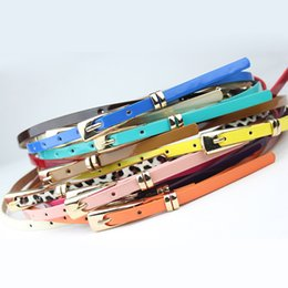 women red belts Australia - 2019 New 8 Colors Thin Pu Leather Belt Female Red Brown Black White Yellow Waist Belts for Women Dress Strap Wholesale
