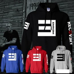 EminEm hoodiE rEd online shopping - Winter Men s Fleece Hoodies Eminem Printed Thicken Pullover Sweatshirt Men Sportswear Fashion Clothing