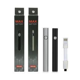 380mAh Max Preheat Battery Charge inférieure à tension variable avec pile USB 510 Vape Pen pour cartouches à cartouche Amigo Liberty M6T TH2