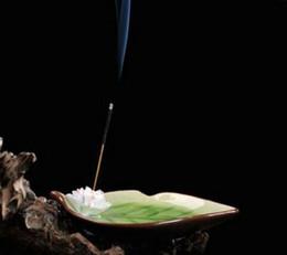 Plant Blocks Australia - De palos de incienso quemador incienso Zen titular de placa Jingdezhen incienso Base C