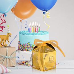$enCountryForm.capitalKeyWord NZ - 50PCS Eid Candy Box Hollow Wedding Candy Box with Ribbon Mubarak Strip Star Moon Decor EID Party Supplies