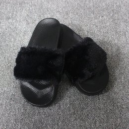 Hot Women Slippers Flock Fashion Spring Autumn Winter Home Plush Slippers  Women Faux Fur Slides Flip Flops Warm Flat Shoes 174f5cc60cee