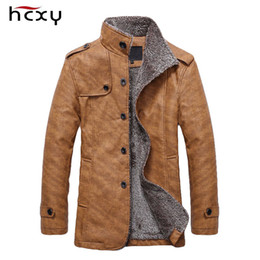 Casual Motorcycle Jackets Australia - HCXY 2019 Men's Winter Jackets Men PU Leather Motorcycle Fur Warm Jacket Male Commercial Casual Coat Plus velvet Windproof 4XL T5190617