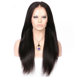 Under Hair Dyeing Australia - Beauty 130% density Brazilian human hair natural color full lace hair wig for women with baby hair lace front wig can be dyed
