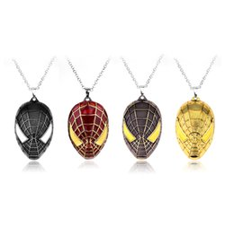Marvel necklaces online shopping - Spider Man Necklace Marvel Comic Inspired Jewelry Pendant Necklaces Jewelry Men Gifts