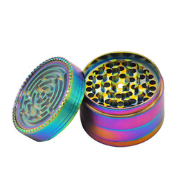 $enCountryForm.capitalKeyWord Australia - Rainbow Zinc Alloy Smoking Herb Grinder With Maze Game 63MM 4 Piece Metal Tobacco Grinder Smoke Grinders for Hand Spoon Pipe Accessories