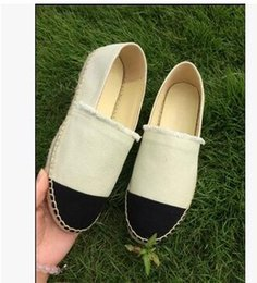 Discount minimalist shoes - Summer breathable slip minimalist Thick Soles Fashion Designer Brand Flats Canvas Espadrilles Casual Ladies Loafers Flat