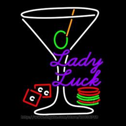 "$enCountryForm.capitalKeyWord NZ - Lady Luck Martini Neon Sign Bar Disco KTV Club Hotel Real Glass Tube Handmade Custom Store Soft Drink Display Neon Signs 24""X32"""