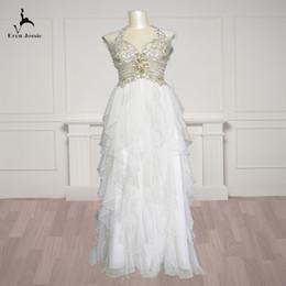 $enCountryForm.capitalKeyWord Australia - Eren Jossie 2019 Fashion Beaded Custom Made Halter Ivory Organza Wedding Dress Corset Back Brand Factory Directly Selling