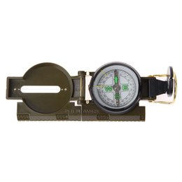 military survival compass UK - Portable Folding Lens Compass Survival American Military Army Geology Compass bussola kompas For Outdoor Camping Hiking Tool