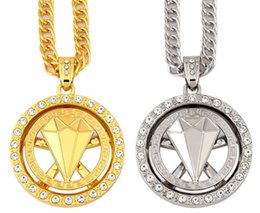 MHip Hop diamant runde Lion Halskette Edelstahl Gold silber Farbe Punk Tier Löwenkopf Anhänger Halskette Für Männer Schmuck