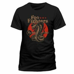 Music Man T Shirt UK - Foo Fighters Licensed Cobra Rock Music Tee T-Shirt Dave Grohl Men