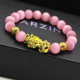 indian luck bracelet Australia - CK016 Color protection pixiu bracelet agate crystal stone bracelets 3D pixiu luck men and women jewelry