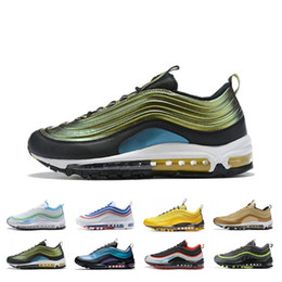 $enCountryForm.capitalKeyWord Australia - Luxury Men Women Running Shoes Laser Fuchsia Neon Seoul Triple Black Silver Gold Bullet Bright Citron Designer Sport Sneakers