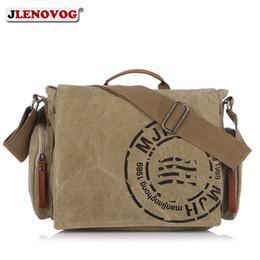 e1f7b712fe3f Men s Canvas BriefCase Vintage Crossbody Messenger Laptop bag Khaki Army  Green Brown Casual Big Retro Handbag for men
