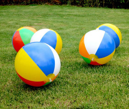 Large Inflatable Pools Australia - 38cm Inflatable Beach Pool Toys Water Ball Summer Sport Play Toy Balloon Outdoors Play In The Water Beach Ball Free DHL