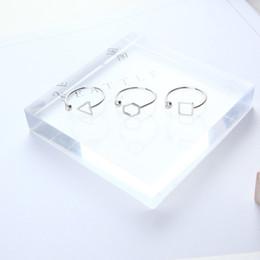 Square Geometric Ring Australia - Korean Simple Geometric Polygon Triangle Square Opening Diamond Ring Tail Ring Factory Direct Sales