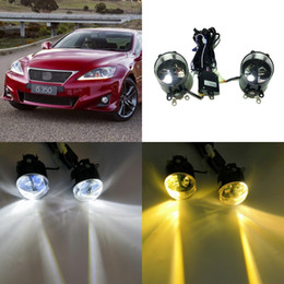 case f Australia - July King 24W Bifocal Fog Lamp Case for Lexus IS-F IS250 IS350 with F-Sport 2008-2013, 6000K DRL + High Beam + 4300K Low Beam