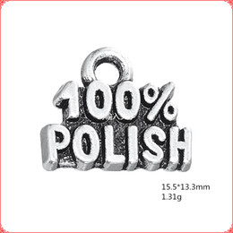 $enCountryForm.capitalKeyWord UK - 30pcs Antique vintage tibetan silver word 100% POLISH charms metal dangle alloy pendants for necklace bracelet earring diy jewelry making