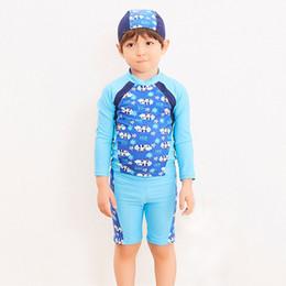 000843c15c KNLPJYQ Kid Children Long Sleeve Swimsuit Toddler Robot Pattern Swimwear  2019 Beach Boys Three Pieces Bathing Suit Rash Guards