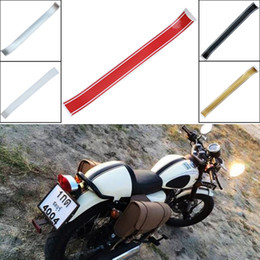 $enCountryForm.capitalKeyWord Australia - 1pcs 50x5cm Motorcycle Fuel Tank Cover Decal Strip Sticker Cafe Racer DIY Stickers Decal Red Black Silver Golden White