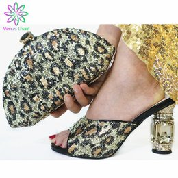 ShoeS purSe match online shopping - High Quality Woman Luxury Crystal Shoes And Purse Set For Party African Shoes Matching Bag High Heels Wedding And Bag Set