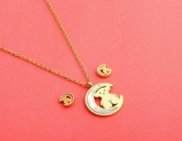 $enCountryForm.capitalKeyWord Australia - 2018 new fashion cheap Necklace Little Bear suit moon style Decorate Pendant Necklaces Display Frame Stand Show For Women Wholesale