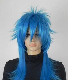 cosplay girls blue hair NZ - WIG Free Shipping New Fashion Women Night Club Style Girl Short Hair Cosplay Party blue Full Wigs