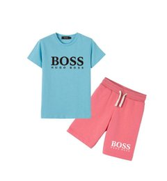 hot girls loose t shirts NZ - Hot boy and girl 100% cotton short-sleeved T-shirt fashion letter print sports suit casual loose short-sleeved shirt beach shorts