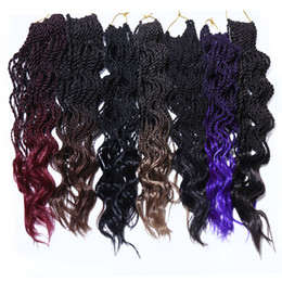 $enCountryForm.capitalKeyWord Australia - 35 Strands Pack Ombre Colors Curly Wave Synthetic Crochet Braids Hair Extensions 14inch Kanekalon Heat Resistant Fiber Twist 80g Pack