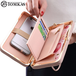 $enCountryForm.capitalKeyWord NZ - Luxury Women Wallet Phone Bag Leather Case For iPhone 7 6 6s Plus 5s 5 For Samsung Galaxy S7 Edge S6 Xiaomi Mi5 Redmi 3S Note3 4