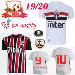 edce44e0cf3 S-XXL newest 19 20 Sao Paulo Soccer Jerseys 2019 2020 Camisa de futebol  Home away Helinho Souza Pablo Everton Football Shirts kits Maillots