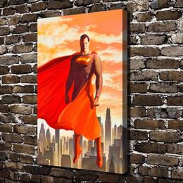 Dc Superman Figure Australia - DC Superman,Home Decor HD Printed Modern Art Painting on Canvas (Unframed Framed)