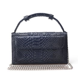 navy blue clutch handbags NZ - Genuine Leather Bags For Women Shoulder Bags Snake Animal Chain Clutch Luxury Small Designer Crocodile Pattern Handbags