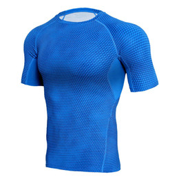 $enCountryForm.capitalKeyWord UK - Outdoor Sports T Shirts With 3D Pattern For Gym Tight Style Breathable Elastic Bodybuilding Sports Clothes Fitness Wear