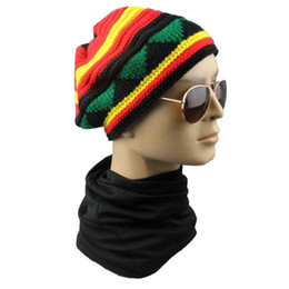 $enCountryForm.capitalKeyWord UK - Winter Hip Hop Bob Jamaican caps Rasta Reggae Hat colorful Striped Beanie Hats For Men Women 2017 fashion new style Fancy boonet