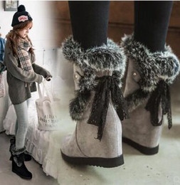 $enCountryForm.capitalKeyWord Australia - New Arrival Hot Sale Specials Super Fashion Influx Cowgirl Large Size Noble Increased Snow Cotton Rabbit Hair Wedge Ankle Boots EU34-43