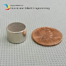 Wholesale Neodymium Magnet Cylinder Australia - 24 Pcs Ndfeb Magnet N38sh Cylinder Dia12.5x8 Mm Rod High Temperature Strong Neodymium Magnets Rare Earth Permanent Lab Magnets