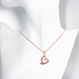 Pendant Jewerly Australia - Hot Sell 18K Real Gold Plated Necklaces Hollow Heart Shaped Pendants with Cubic Zircon Women Girl Birthday Gift Lovely Jewerly K3567