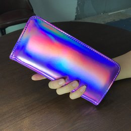$enCountryForm.capitalKeyWord Australia - AOEO Long Female Wallet Hologram Bag Colorful Design Ladies Money Clutch Purse Gift Girls Cute Holographic Wallets For Women