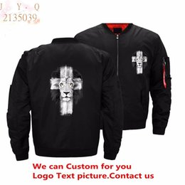 cross zipper jacket NZ - USA Size New Mens Jesus Kerusso Cross Jacket Men streetwear bomber jackets and coat veste homme Custom Top Pilot jacket casual