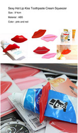 hot lip kiss Australia - 6Pcs Top Sale Sexy Hot Lip Kiss Bathroom Tube Dispenser Toothpaste Cream Squeezer Home Tube Rolling Holder Squeezer