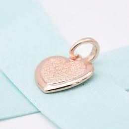 $enCountryForm.capitalKeyWord Australia - 2019 New 925 Sterling Silver Solid Fashion Rose Gold Matte Heart Pendant Fit for Pandora Original Women's Charm Bracelet DIY Jewelry
