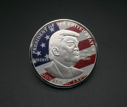 $enCountryForm.capitalKeyWord Australia - 45th Donald Trump Silver Eagle Coin Commemorative Coin Make America GREAT Again 45th President Metal Badge Craft SN3483