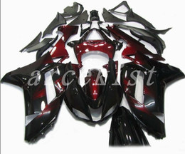 Custom Zx636 Australia - TOP quality New ABS motorcycle Fairings kits fit for kawasaki 07 08 ZX 6R 636 2007 2008 Ninja ZX6R ZX636 fairing set custom Dark red black