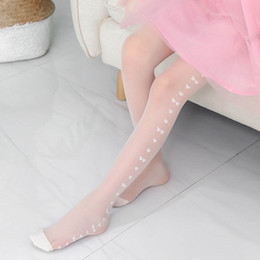 6f586fa14 Summer bows LOVE lace Girls Pantyhose Children silk stockings Fashion Kids Leggings  Girls Tights girl long Socks girls clothes A4839